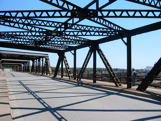 This view  of the St. Anthony Parkway bridge over the Burlington Northern Railroad  tracks was captured by Columbia Park resident Peter Doughty in June 2009
