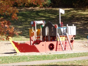 Columbia Park Playground  Ship Play Area