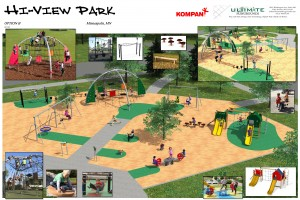 Final design for the new Hi View Park Playground